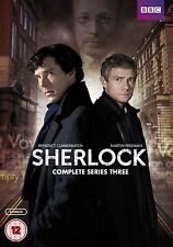 SHERLOCK BBC TV Series Complete Season 3 DVD Collection+Extras Original HOLMES