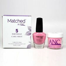 ANC Amazing Nail Concepts Matched kit # 5 Birthday Cake Shot