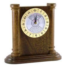 Wood Desk Perpetual Calendar Clock with Plate TP6465C