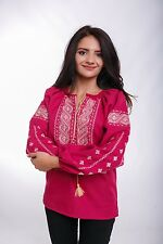Ukrainian embroidered traditional ethnic blouse for ladies vyshyvanka, 3 colours