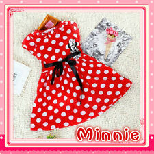 KIDS Reds Polkadot Minnie Mouse Princess Fairytale Outfit Girls Dresses AGE 2-3Y