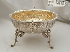 RARE VICTORIAN HM STERLING SILVER EMBOSSED BOWL 1894