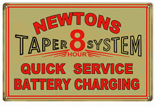 Large Newtons 8 Hour Battery Service Gas Station Sign 16X24