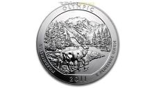 America the Beautiful ATB Olympic National Park Washington 5 Oz plata EE. UU. 2011