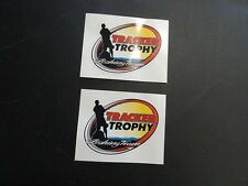 "TRACKER TROPHY FISHING TEAM DECAL PAIR (2) 3-3/4"" X 2-3/4"" TR14292 MARINE BOAT"