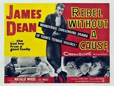 Vintage Rebel Without A Cause Classic James Dean Movie Film Poster Print A4