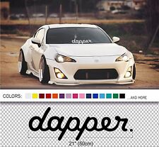 "21"" Dapper windshield windscreen front car glass window JDM Mugen decal sticker"