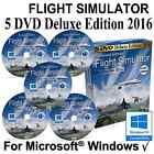 FlightGear Flight Simulator 2016 DELUXE Edition Sim 5 DVD Windows XP 7 8.1 10
