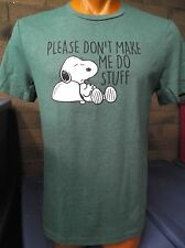 Mens Licensed Peanuts Snoopy Please Don't Make Me Do Stuff Shirt New XL