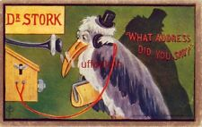 """DR. STORK on the phone """"WHAT ADDRESS DID YOU SAY?"""" cpyrt 1908 by F A Moss C F L"""