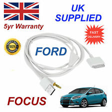 FORD FOCUS 1529487 For Apple 3GS 4 4S iPhone iPod USB & 3.5mm Aux Cable White