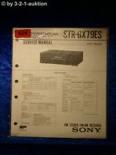 Sony Service Manual STR GX79ES Receiver  (#0624)