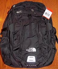 "NWT The North Face Men's  Recon Laptop Backpack Book Bag 15"" LAPTOP TNF BLACK"