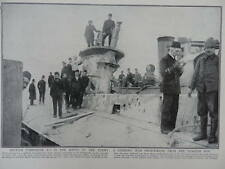1915 DARDANELLES SUBMARINE E15 CAPTURED BY TURKS GALLIPOLI LT COM BRODIE WWI WW1