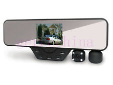 "3.5"" LCD Dual Camera Rearview Mirror Car DVR night vision car Camera Wide angle"
