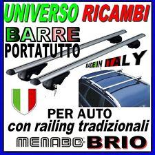Barre Portatutto Menabo BRIO 120 ALFA 156 Sportwagon  2000 al 2005 Barre longitu