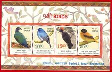 [148] Miniature Sheet Birds Series 1 Near Threatened 2016 MNH