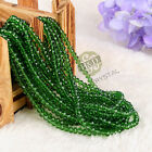 Lot 1500 PCS Emerald Crystal Faceted Loose Beads Rondelle Jewelry Making DIY 4mm