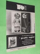 PUBLICITE - SEBINO - POUPEE GO-PATTY MAGICA - COUP BAGUETTE MAGIQUE JOUET ( D3 )