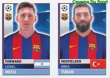 FCB16 ARDA TURAN LIONEL MESSI FC.BARCELONA STICKER CHAMPIONS LEAGUE 2017 TOPPS