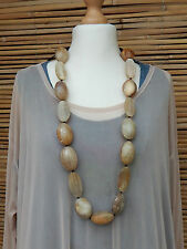 LAGENLOOK AMAZING BEAUTIFUL DECORATIVE BOHO LONG STONE EFFECT NECKLACE PENDANT