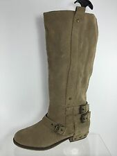 Dolce Vita Womens Stone Beige Leather Knee Boots 8.5