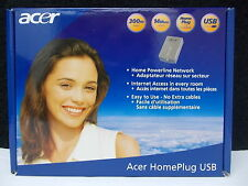 ACER, Home Powerline network, 300m, 14 Mbit/s, home plug, USB