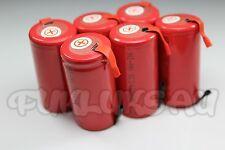 6 PILES ACCUS BATTERIES Sub C Nimh RECHARGEABLE 1.2V 3400mAH à LANGUETTE PATTE
