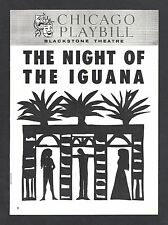 """Bette Davis """"NIGHT OF THE IGUANA"""" Tennessee Williams '61 Chicago Tryout Playbill"""