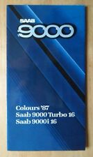 SAAB 9000 orig 1987 UK Mkt Colours & Upholstery Brochure - Turbo 16