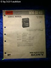 Sony Service Manual WM BF49 Cassette Player (#2017)