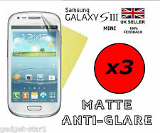 3x Hq Mate Anti Glare Screen Protector Tapa Protector Samsung Galaxy S3 Mini I8190