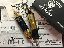 SUPREME ADJUSTABLE tattoo pen RCA cartridge tattoo machine Limited GOLD, BLK