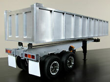 Custom Made Aluminum Bump Bed Trailer for Tamiya R/C 1/14 scale Semi Truck