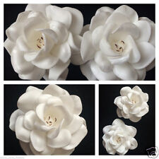"2.75"" FOAM GARDENIA ROSE FLOWER HAIR CLIP Ivory White"