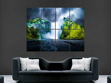 WATERFALL FOREST POSTER BEAUTIFUL NATURE WATER  WALL ART PRINT GIANT ARTIST