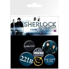 Sherlock Mix 6 Piece Badge Pack - Holmes Badges Tv Official Merchandise Gift