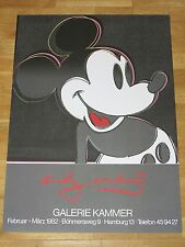 ANDY WARHOL POSTER - MICKEY MOUSE 1982 EXHIBITION PLAKAT