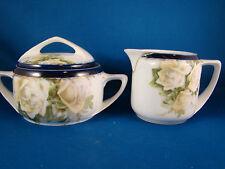 Rosenthal Porcelain China Donatello creamer and covered sugar set Royal Blue @1