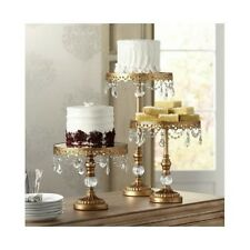 3 Tiered Gold Cake Stands Cupcake Tiers Vintage Riser Dessert Tray Wedding Party