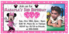 10 MAGNETIC Mickey Mouse Clubhouse MINNIE MOUSE Birthday Invitations PERSONALIZE