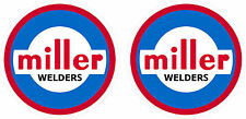 Pair of Vintage Miller Welder Decals 2'' size  60's 70's tig stick mig