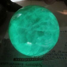 80mm +stand Glow In The Dark Stone crystal Fluorite sphere ball Iceland