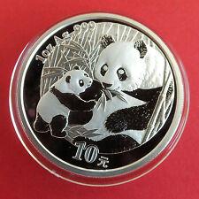 CHINA 2005 PANDA 10 YUAN 1oz .999 FINE SILVER