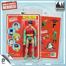 DC Comics 8 Inch Retro Mego Robin Figure With Mego-Like Card Removable Mask NEW