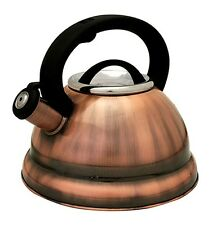 Stainless Steel Tea Kettle – 2.8 L Stove Top Whistling Kettle (Dark Copper)