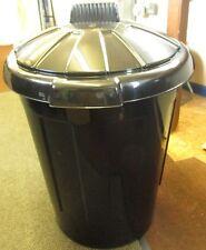 Black Bin Plastic Refuse Bin 80 Ltr With Lid Outside Rubbish Bin Waste Bin