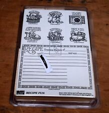 Stampin Up Recipe Fun Unmounted Rubber Stamps Cards From the Kitchen of