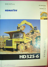 ✪ viejo folleto original/sales brochure Komatsu Truck hd325-6 Dump Truck