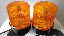 2x 24V AMBER RECOVERY SAFETY LED LIGHT BREAKDOWN ROTATING FLASHING BEACON LAMP